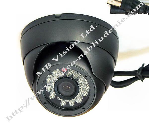 куполна камера за видеонаблюдение с метален корпус 600tvl Sharp CCD